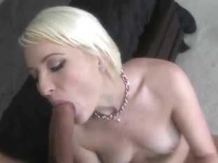 Blonde bitch with nice body gets banged nicely