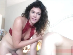 Sexy tgirl fucks lucky guy webcam