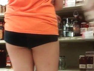Candid little black shorts 4