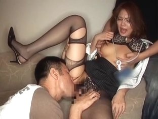 Fabulous Japanese whore Aya Matsuki in Horny Threesomes, MILFs JAV clip