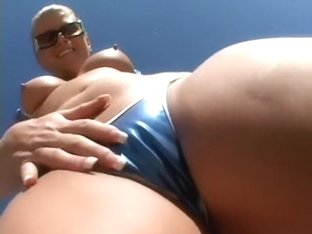 Slutty blonde mom shows off her marvelous body and has fun with a huge black dick