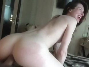Gorgeous pale babe fucks in hotel in paris 2