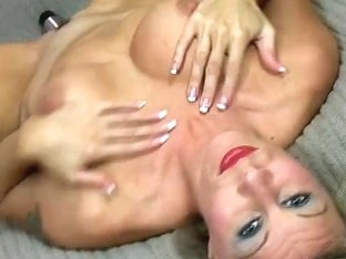 Video from AuntJudys: chick lick her tits and play with her pussy