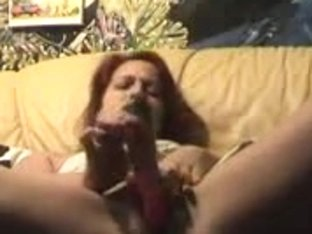 Amazing dildo show sent by my horny redhead girlfriend