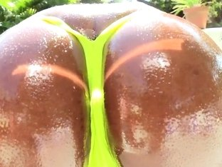 Huge boobed Janine shows off