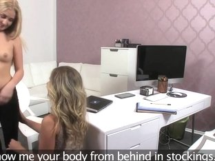 FemaleAgent Hot 18 year old recieves her first orgasms