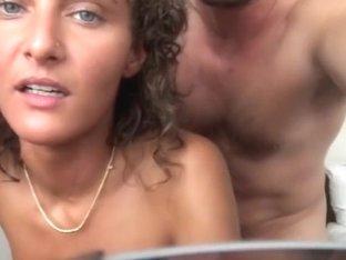 Beautiful slut cheating her husband in a hotel
