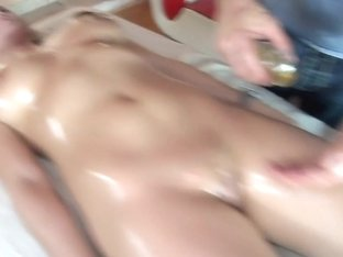Massaging Some Big Titties