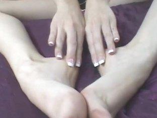 FemdomFootFetish Video: Sara Liz sucks Her own perfect toes!