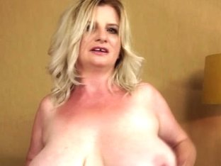 Big tit blonde natural granny slut