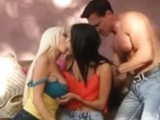 Legal Age Teenager and her girlfriend are screwed hard by large knob
