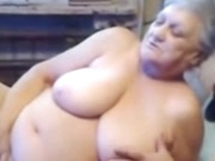 75yr old Breasty Granny Finger Copulates her Lustful Bawdy Cleft
