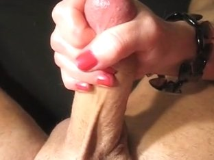Wanking his cum out