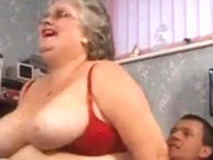 Big Beautiful Woman granny sucks and bonks in nylons