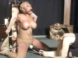 Huge tits sluts bounded and fucked by toys!