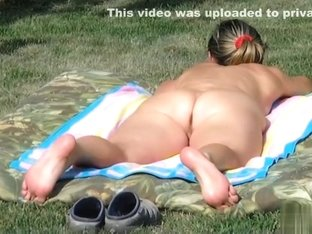 Naked angel sunbathing gazoo