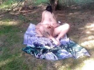 amateur couple woods fuck