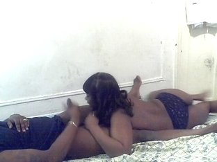 Ebony hottie blowing my horny boner