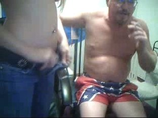 couple in front of web cam