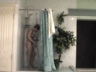 My hot wife taking a shower alone