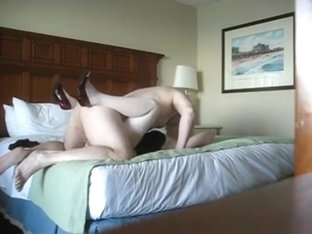 Mature couple has sex in a hotel