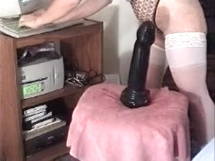 Inserting a sex toy in my fat anus