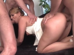 Incredible pornstar Linda Ray in hottest blonde, dp adult movie