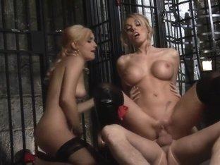 Horny pornstar Antonia Deona in amazing threesome, blonde sex video