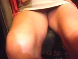 vine - pussy flashing in a restaurant