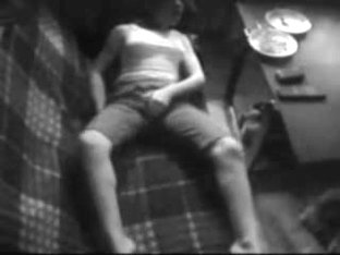 Must see my horny sister masturbating on couch. Hidden cam