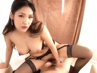 Fabulous Japanese girl Rina Fukada in Exotic Stockings/Pansuto, Lingerie JAV clip