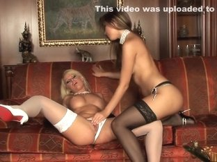 Incredible pornstars Peaches Johnson and Harmony Flame in crazy big tits, masturbation sex scene