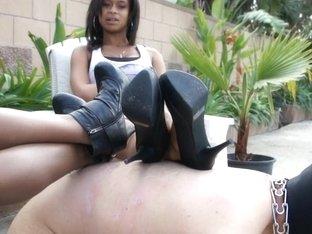 BlackGirlsWhiteSlaves: Permanent Heel Marks