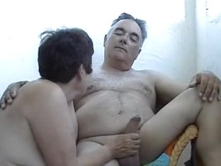 Faithful couple having cute oral games on the webcamera