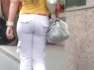 Beautiful girls are showing their tight and sexy asses