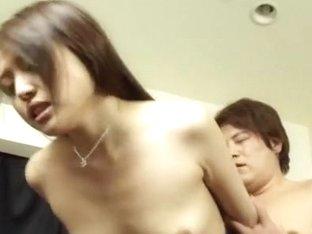 Japanese doll Rino Mizusawa gets creamed pussy in threesome