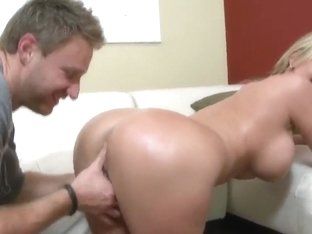 Horny girl is enjoying nice anal sex