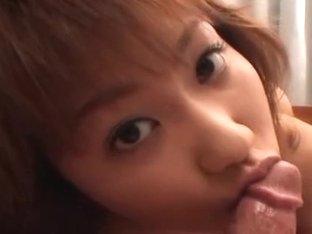 Japanese teen Kyouka Usami sucks cock Uncensored