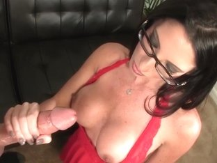 Spex amateur babe tugging forbidden cock