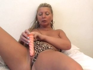 Hot grandma Irena unboxing fresh sex toys