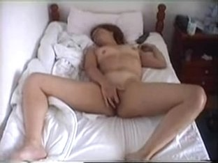 Girl masturbates to a big orgasm
