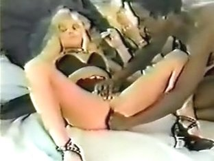 Old school blond copulates her large cocked darksome paramour