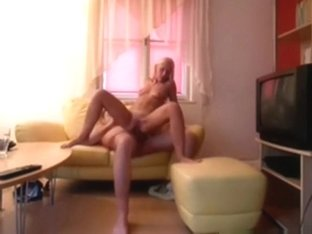 Horny couple has super wild sex in the living room. he even ties up her legs !!!
