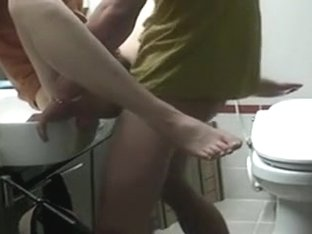 Me fucking my girlfriend in hotel washroom
