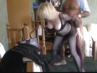 monika in her dark body stocking