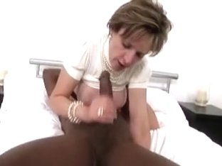 Sexy chic businesswoman can't live without large swarthy penis on the side