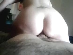 My tattooed bootyful chick jumps on my shlong like on trampoline