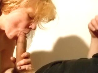 Deep oral creampie