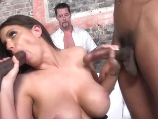 Brooklyn Chase Fucks Two Black Guys To Please Her Hubby