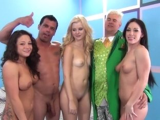 Crazy pornstars Charlys Bella, Jennifer White and Charity Bangs in best swallow, blonde porn scene